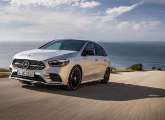 Mercedes-Benz B 200 d, AMG Line, Mercedes-Benz B 200 d, AMG Line, iridium silver; AMG Line; Man-made leather ARTICO/microfiber DINAMICA black;fuel consumption combined 4.5-4.2l/100 km, CO2 emissions combined 119-112 g/km*