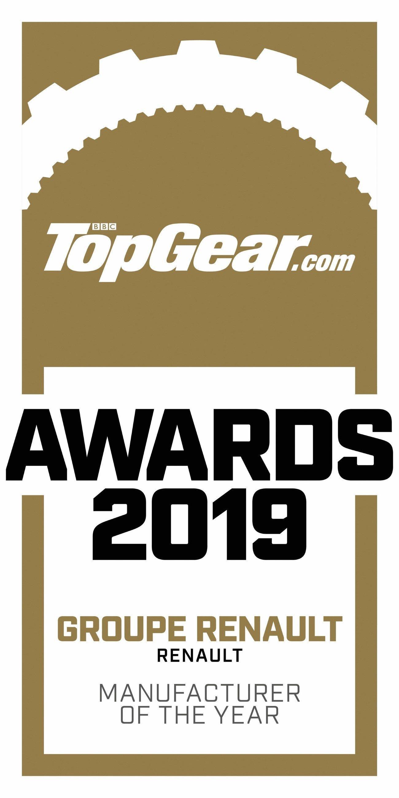 2019 - Groupe Renault élu « Constructeur de l'année » par TopGear.com