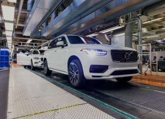 Pre-series autonomous driving ready XC90 rolls off production line