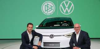Volkswagen Press Conference And Press Greeting With Jogi Loew At IAA Frankfurt