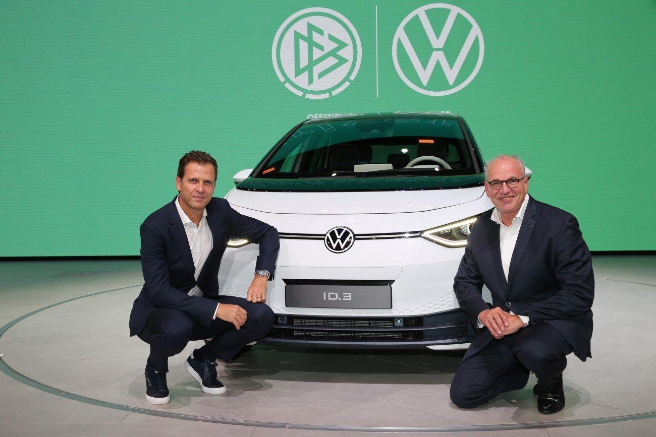 Volkswagen Press Conference And Press Greeting With Jogi Loew At IAA Frankfurt