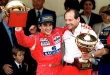 Ayrton Senna and Ron Dennis