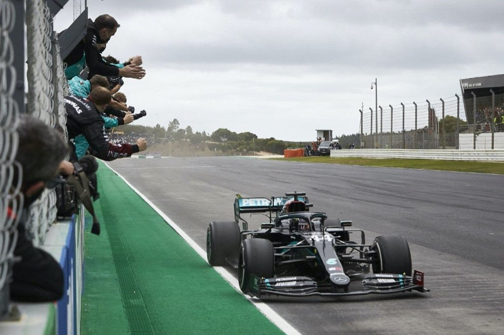 Formel 1 - Mercedes-AMG Petronas Motorsport, Großer Preis von Portugal 2020. Lewis Hamilton Formula One - Mercedes-AMG Petronas Motorsport, Lewis Hamilton