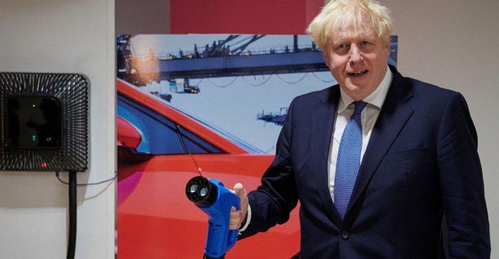 UK PM Boris Johnson Ban Petrol Diesel Cars 2030