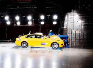 Volvo S90 Small Overlap Crash Test