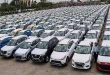 parking lot cars car sales