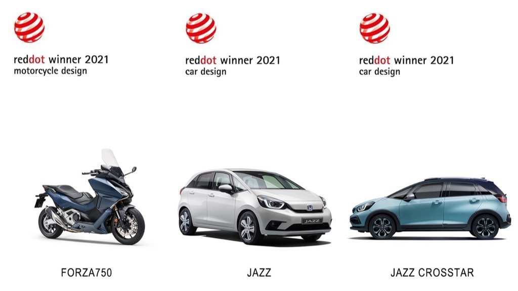 HONDA WINS RED DOT AWARDS 2021 FOR NEW JAZZ E:HEV, JAZZ CROSSTAR E:HEV AND FORZA 750