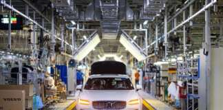 Volvo Cars manufacturing plant in Daqing, China