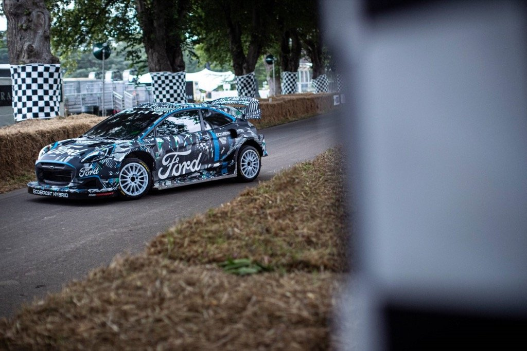 Ford and M-Sport Reveal New Puma Rally1 WRC Prototype; Electrifying Hybrid Performance Breaks Cover at Goodwood