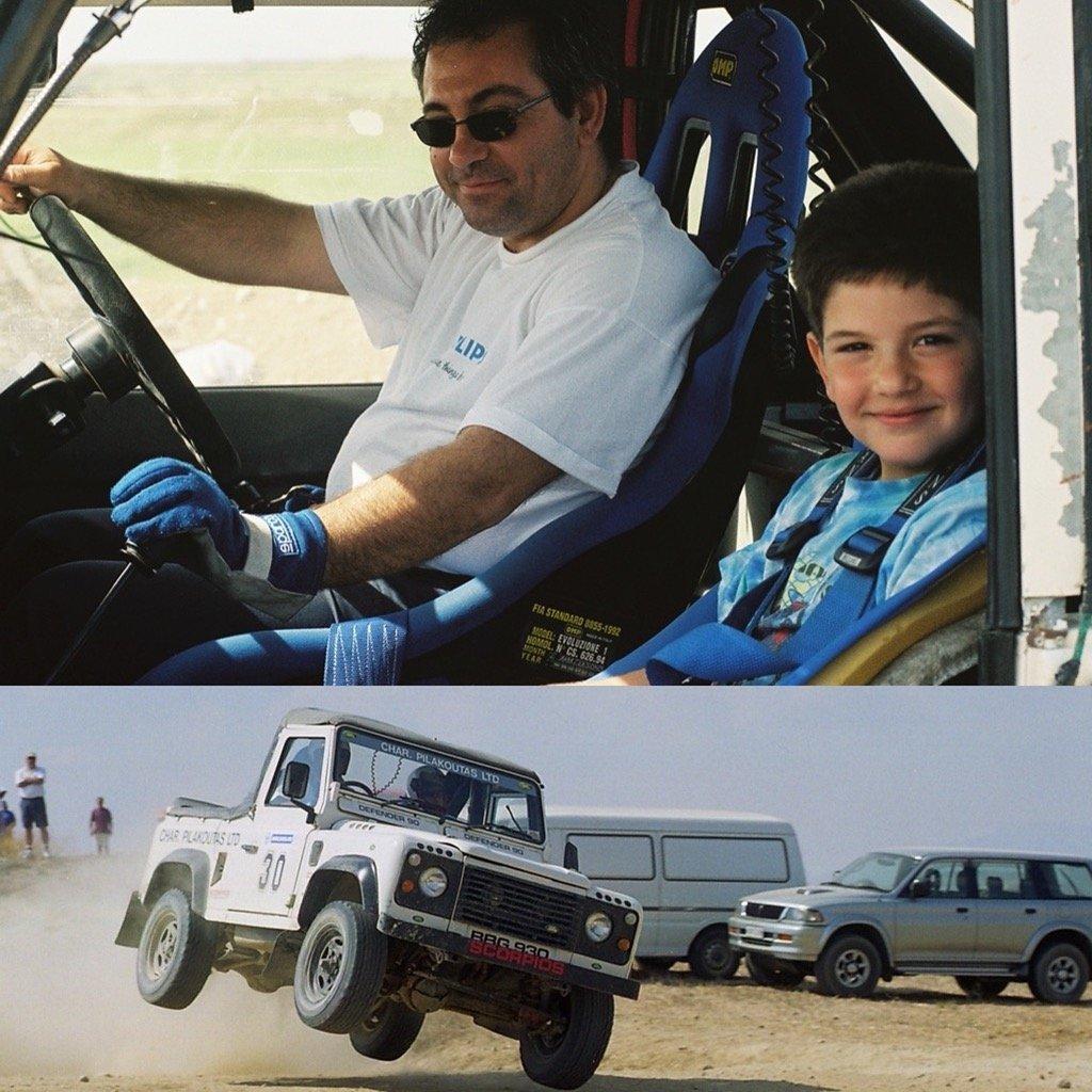 Christos Soutzis Land Rover Defender 90 Char pilakoutas rally