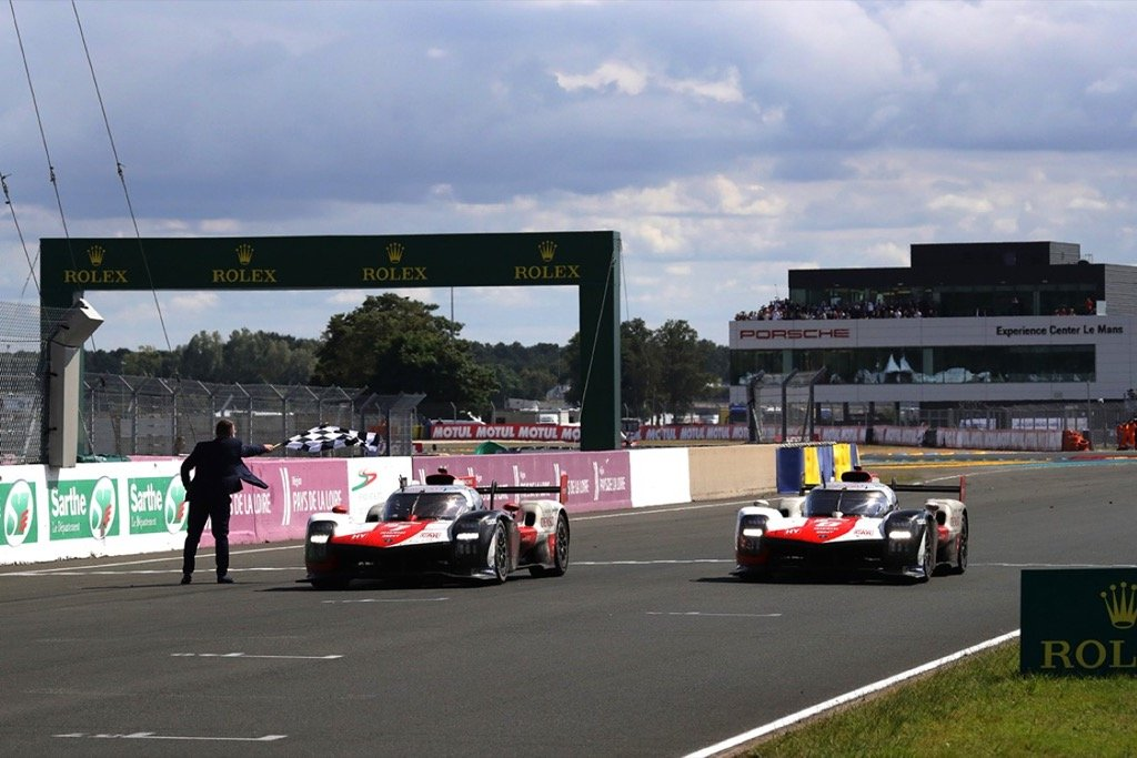 Le Mans 24 Hours TOYOTA GAZOO Racing. World Endurance Championship. Le Mans 24 Hours Race Le Mans Circuit, France 16th to 22nd August 2021 Kamui Kobayashi (JPN) Mike Conway (GBR) Jose Maria Lopez (ARG)